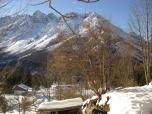 La magnifica vista sulle Dolomiti carniche.